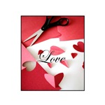 Cropped Paper Hearts - Love Valentine