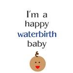 Happy waterbirth baby