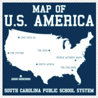 south carolina map of U.S. America