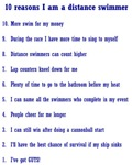 Top ten reasons distance swimmer