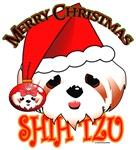 Christmas Shih-tzu