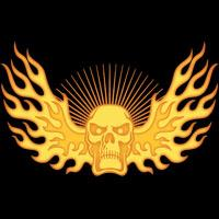 Flame-Wing-Skull