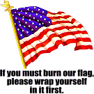 If you must burn our flag