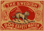 Swedish Dog Matchbox  Label II