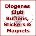 Diogenes Club Buttons, Stickers & Magnets
