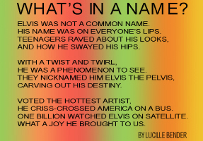 ENTERTAINMENT/POP CULTURE-WHAT'S IN A NAME