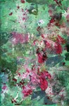 Green and Pink Oil Painting