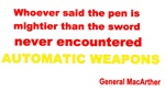 Gen. MacArther-automatic weapons