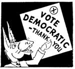 VOTE DEMOCRATIC