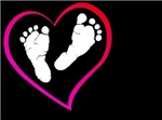 Baby Feet in Heart