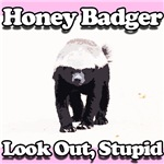Honey Badger Look Out Stupid Pink