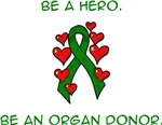 Green Hearts Ribbon Donor