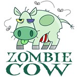Mmmmm.  Zombie Cows look tasty.   But you better watch out for while you are enjoying a rack of ribs your zombie cow may also be enjoying your brains!  Laugh your Innergeek out with these Zombie Gifts featuring a rotting zombie cow.  It is sure to make an