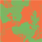 Japanese Print (Orange & Lime)