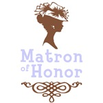 Cameo Matron of Honor (Periwinkle & Brown)