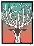 Red/Green Reindeer Cards