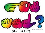 Rainbow GOT ASL? Captioned Square