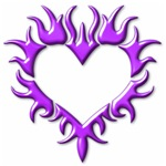 Tribal Heart (Purple 3D)