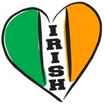 Irish Heart Flag Letterin T-Shirts