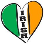 Irish Heart Flag Letterin