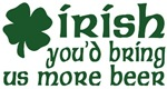 Irish More Beer Shamrock T-Shirts