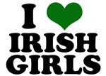 I Love Irish Girls Green Heart T-Shirts