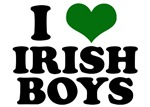 I Heart Irish Boys Green T-Shirts