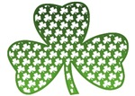 White Shamrocks in Shamrock T-Shirts