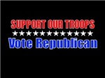 Support Our Troops - Vote Republican (Dark)