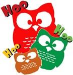 3 owls saying hoo hoo hoo