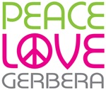 Peace Love Gerbera