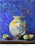 Three Apples and a Vase by Patty Benson