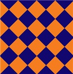 Sports Team Uniform Colors Navy Blue Orange Argyle
