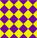 Sports Team Uniform Colors Purple Yellow Argyle