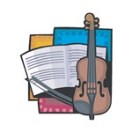 Violin and Sheet Music Design