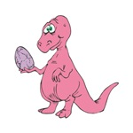 Silly Pink Dinosaur with Egg