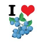 I Heart (Love) Blueberries