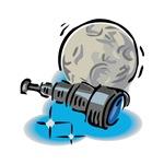 Telescope & Moon Astronomy Design