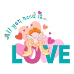 All You Need is Love Cupid Design