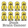 Brain Cancer Awarness Ribbon Ducks