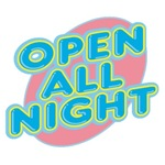 Open All Night Neon Sign Graphic