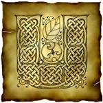 Celtic Knotwork Letter U
