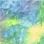 Undersea Luminescence Abstract Watercolor