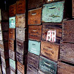 Antique Wooden Produce Boxes