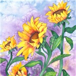 Sunflowers Watercolor Linens