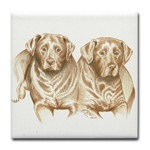 Dog & Horse tile coasters