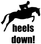 heels down! hunter / jumper horse and rider