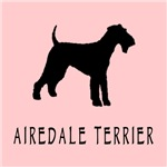 Airedale Terrier Dog Retro Pink