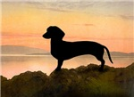 Dachshund Sunset