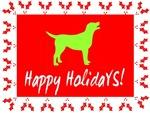 Happy Holidays Labrador